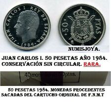 Juan Carlos I. 50 Pesetas año 1984 FECHA RARA. NUEVA SIN CIRCULAR DE CARTUCHO.