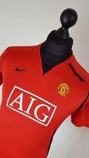 Boys Manchester United AIG Nike Dri Fit Football Shirt Jersey Top - Age 13/15 XL