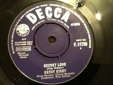 """KATHY KIRBY . SECRET LOVE / YOU HAVE TO WANT TO TOUCH HIM . 1963 7"""" vinyl"""