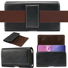 PU Leather Holster Belt Loop Carrying Case Pouch Cover For Samsung Galaxy Phones