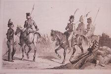 RUSSIE COSAQUES  GRAVURE SUR ACIER 1838 РОССИЯ PRINT
