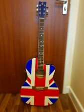 Noel Gallagher, 'Oasis' hand signed full size union jack acoustic guitar.