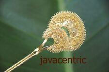 Handmade golden Java HAIR JEWELRY PIN PICK FORK wedding ornament ethnic stunning