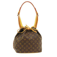 LOUIS VUITTON PETIT NOE DRAWSTRING SHOULDER BAG AR9001 MONOGRAM M42226 03304
