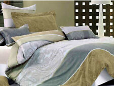 Canterbury Pure 100% Cotton SAMSARA Reversible Queen Quilt  Cover Set
