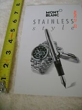 MONTBLANC STAINLESS STYLE PEN WATCH POSTCARD