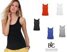 canottiera donna canotta t-shirt senza maniche b&c cotone personalizzabile