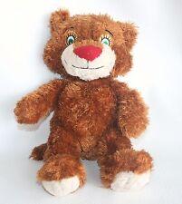 STEVEN SMITH Brown Stuffed Animal Plush Doll Green Eyes Teddy Bear