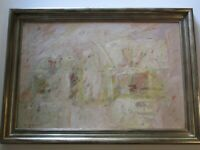 """WESLEY JOHNSON 36"""" PAINTING ABSTRACT  EXPRESSIONISM NON OBJECTIVE ART MODERNISM"""