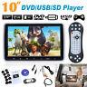 "10"" In car TFT LCD HD Monitor Headrest DVD Player Game Disc Portable IR/FM USB"