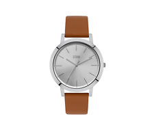 Storm Ladies Watch, Evella Silver with Leather Strap RRP Was £89.95 Now £69.95