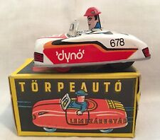 Torpeauto Dyno 678 White Tin Litho Toy Car Driver Orig. Box Vintage 1988 Hungary