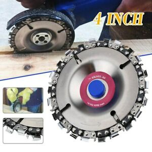 4 Inch Angle Grinder Disc 22 Tooth Chain Saw Blade for Wood Carving Cutting Tool