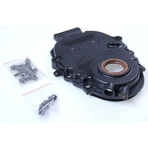 Chevy GMC 5.0 305 5.7 350 Vortec Timing Cover with crank sensor hole 1996-2002