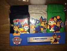 Boys Paw Patrol 3 Pack Pants Underpants Briefs Age 2-3 yrs Cotton FREEPOST