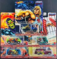 HOT WHEELS 2021 POP CULTURE MASTERS OF THE UNIVERS CASE B SET OF 5 CAR IN STOCK