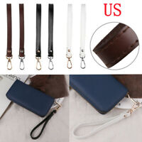 USA_21cm Genuine Leather Buckle Wrist Strap Hands-Free Wristlet for Purse/Clutch