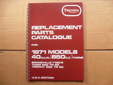 TRIUMPH T120R,TR6R,TR6C PARTS BOOK - 1971 MODELS