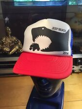Jeep Beach Trucker Hat 2014 Shark Chasing a Jeep Daytona Beach Florida