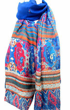 Sciarpe, foulard e scialli da donna stola blu in poliestere