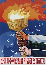 North KOREA Anti-American Propaganda Poster Print A3 + #D091
