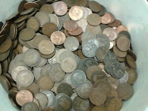 50 Mixed  British Old Penny's (FREEPOST)