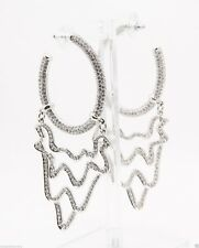Michelle Monroe hoop earrings w/Swarovski crystal elements hanging from the hoop