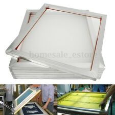 "6 Pack 20"" x24"" Aluminum Silk Screen Printing Press Frame Screens 110 White Mesh"