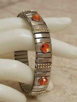 Carnelian Silver Bracelet 2 ct Diamond Bangle Bracelet Jewelry 24k Gold Handmade