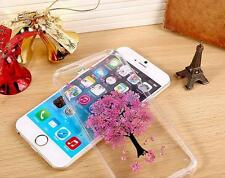 2016 New  Handmade Cherry Blossom Pressed Real Flower Soft Case for iPhone 6