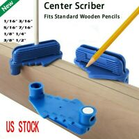 1/5PC Practical Rockler Centre Offset Marking Tool Fits Standard Wooden Pencils