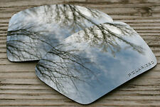 Polarized Chrome Silver Mirrored Sunglass Lenses for Oakley Oil Drum - Grey Tint