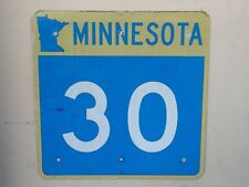 Minnesota state highway 30 map outline route road traffic sign USED AUTHENTIC