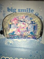 NEW! Sanrio Loot Crate Splash Hello Kitty Iridescent Cosmetic Makeup Bag Pouch