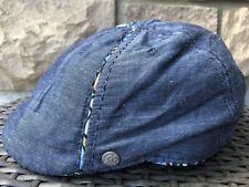 Robert Graham S/M Unisex 8/4 Duckbill CAP Newsboy DENIM Blue