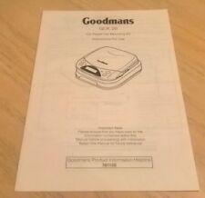 Goodmans GCK20 CD Player Car Mounting Kit GCK 20 Instruction Book / Manual