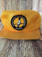 Vintage All Mesh Trucker Hat Cap Saskatchewan Wildlife Federation Member