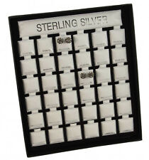 Earring Display Stand with Puff Pads Jewellery Organiser - Sterling Silver Print