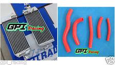 R&L aluminum radiator & red HOSE for suzuki RM125 RM 125 1998-2000 1999 98 99 00