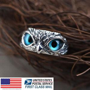 Demon Owl Eye Ring For Girl Women Lover Retro Animal Ring Adjustable Size