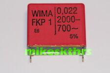 FK.31  5x WIMA FKP1 Polypropylen Kondensator 22nF-2000- 700~ 0,022µF Rm 27,5mm