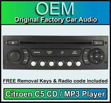 Citroen C5 car stereo MP3 CD player Citroen RD4 radio + FREE Vin Code