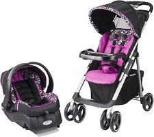 Evenflo Vive Travel System, Daphne, Stroller Car Seat Combo Baby Infant Toddler