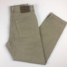 Calvin Klein Men's Jeans Size 32X30 Khaki Color Easy Fit ZIp Fly Loose Fit