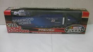Nascar Joe Nemechek Signed #33 Oakwood Homes Hauler 1:64 Scale Diecast RC 2000