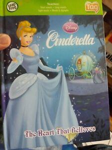 Leapfrog DISNEY Princess Cinderella Works on Tag and Leapreader- Free Ship