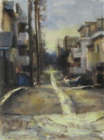 LOS ANGELES ALLEY Urban Landscape 9x12 Realism Impressionist Cityscape Painting