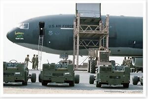 Bomb Lifts Being Loaded On KC-10A Extender Operation Desert Storm 8 x 12 Photo