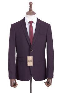 Men's Mod Suit Antique Rogue Burgundy Slim Fit