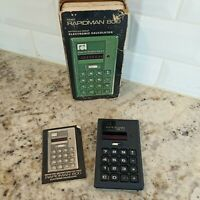 Vintage Early 1970s Rapidman 800 Calculator Red LED Display with box manual! De